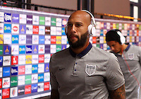 SAN JOSE, COSTA RICA - September 06, 2013: Tim Howard (1) of the USA MNT enters the stadium before a 2014 World Cup qualifying match against Costa Rica at the National Stadium in San Jose on September 6. USA lost 3-1.