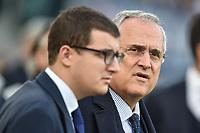 Claudio and Enrico Lotito<br /> Roma 10-11-2019 Stadio Olimpico <br /> Football Serie A 2019/2020 <br /> SS Lazio - Lecce<br /> Foto Antonietta Baldassarre / Insidefoto