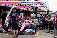 13th March 2020; Melbourne Grand Prix Circuit, Melbourne, Victoria, Australia; Formula One, Australian Grand Prix, Practice Day; Racing Point practice pit stops before packing the car away