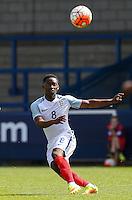 Adetayo Edun (Fulham) of England U19 plays a pass during the International match between England U19 and Netherlands U19 at New Bucks Head, Telford, England on 1 September 2016. Photo by Andy Rowland.