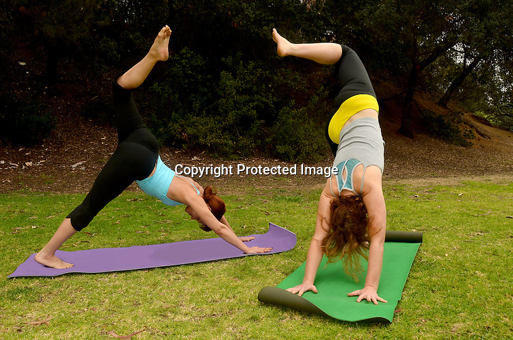 Stock photo of outdoor yoga