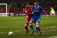 Josh Doherty of Crawley Town and Nathan Thomas of Carlisle United during Crawley Town vs Carlisle United, Sky Bet EFL League 2 Football at Broadfield Stadium on 15th February 2020