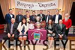 Pictured at the Dromid GAA Social in the Waterville Lake Hotel on Friday night were front l-r; Diarmuid Ó Sé(Vice Chair County Board), Suzanne Ní Laoighre(Treasurer), Deirdre Nic Gearailt(Secretary), Donnacha Ó Súilleabháin(Chairman), back l-r; Michéal Ó Sé, Sean Ó Faircheallaigh, Pól Mac Gearailt, Maire Uí Shíocháin, Caoimhín Ó Currnain, Daithí Ó Muircheartaigh, Sean Ó Sé agus Declan Ó Súilleabháin.