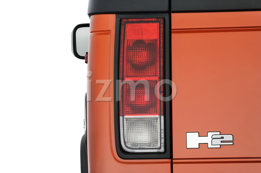 Tail light close up detail view of a 2008 Hummer H2 SUT
