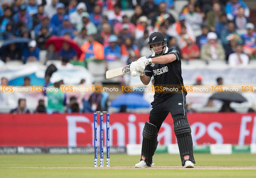 Colin de Grandhomme (New Zealand) prepares to cut during India vs New Zealand, ICC World Cup Semi-Final Cricket at Old Trafford on 9th July 2019