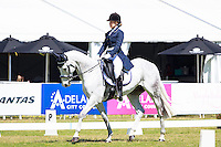 AUS-Tayah Andrew rides Silver Force during the CCI2*YR Dressage at the 2016 AUS-Australian International 3DE. Thursday 3 November. Photo Copyright: Libby Law Photography