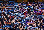Stockholm 2013-10-27 Fotboll Allsvenskan Djurg&aring;rdens IF - Gefle IF :  <br /> Djurg&aring;rden supportrar h&aring;ller upp halsdukar innan matchen<br /> (Foto: Kenta J&ouml;nsson) Nyckelord:  supporter fans publik supporters