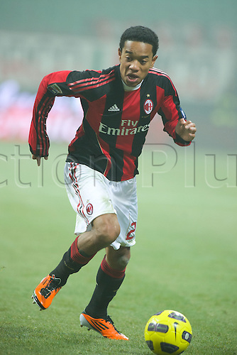 01.02.2011 Urby Emanuelson (Milan),  Football : Italian Serie A 2010-2011, match between  A.C. Milan (0-0) S.S. Lazio at San Siro Meazza Stadium, Milan, Italy,