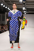 Collection by Rebecca Rimmer from UCLAN, University of Central Lancashire. Graduate Fashion Week 2014, Runway Show at the Old Truman Brewery in London, United Kingdom. Photo credit: Bettina Strenske