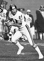 Peter Liske BC Lions quarterback 1975. Copyright photograph Scott Grant