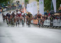 winner: Alexander Porsev of Katusha (RUS) beating Gerald Ciolek (DEU) over the finish line<br /> <br /> 2013 Tour of Luxemburg<br /> stage 1: Luxembourg - Hautcharage (184km)