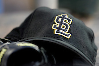 Salt Lake Bees hat. Photo by Andrew Woolley/ Four Seam Images.
