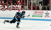 BOSTON, MA - JANUARY 04: Tereza Vanisova #21 of University of Maine takes a shot during a game between University of Maine and Boston University at Walter Brown Arena on January 04, 2020 in Boston, Massachusetts.