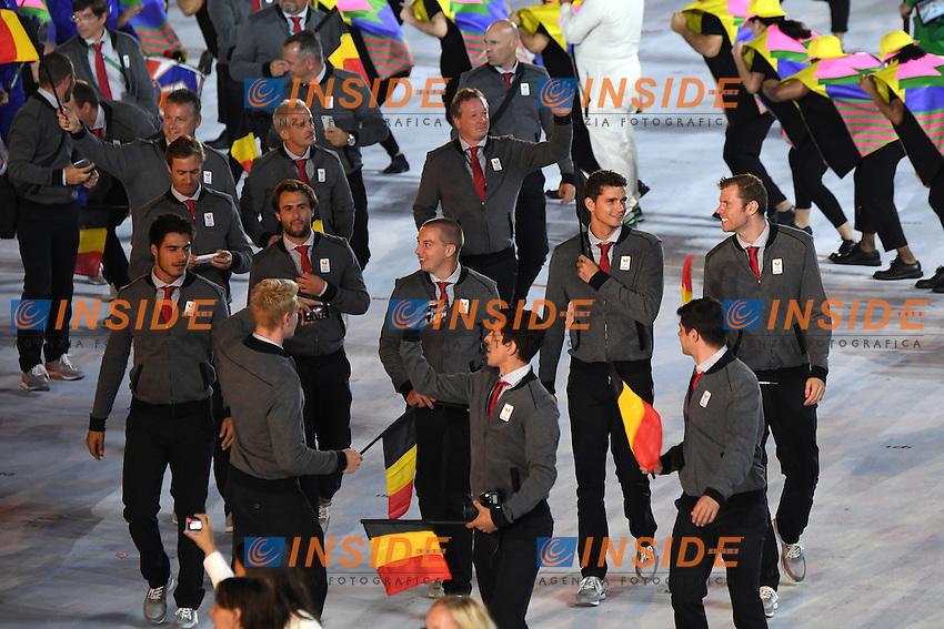 Belgium <br /> Rio de Janeiro 05-08-2016 Maracana Stadium <br /> Olympic Games Opening Ceremony <br /> Cerimonia di Apertura Olimpiadi Rio 2016 <br /> Foto Andrea Staccioli/Deepbluemedia/Insidefoto