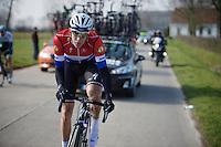 Dutch Champion Niki Terpstra (NLD/Etixx-QuickStep)<br /> <br /> 71st Omloop Het Nieuwsblad 2016