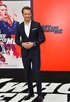 Sam Heughan at the world premiere for &quot;The Spy Who Dumped Me&quot; at the Fox Village Theatre, Los Angeles, USA 25 July 2018<br /> Picture: Paul Smith/Featureflash/SilverHub 0208 004 5359 sales@silverhubmedia.com