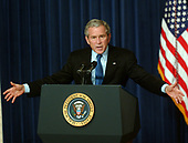 Washington, D.C. - October 11, 2006 -- United States President George W. Bush makes remarks on the Economy and Budget at the White House in Washington, D.C. on Wednesday, October 11, 2006.  <br /> Credit: Ron Sachs / CNP