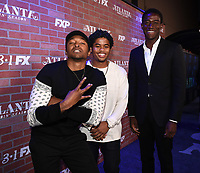 """LOS ANGELES - FEBRUARY 19: Malcolm Mays, Isaiah John, and Damson Idris arrives at the red carpet event for FX's """"Atlanta Robbin' Season"""" at the Ace Theatre on February 19, 2018 in Los Angeles, California.(Photo by Frank Micelotta/FX/PictureGroup)"""