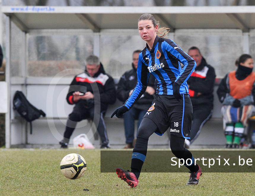 Club Brugge Dames - OHL Oud Heverlee Leuven : Nicky Van Den Abbeele .foto DAVID CATRY / Vrouwenteam.be