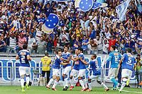 BELO HORIZONTE, MG, 19 MAIO 2013 - CAMPEONATO MINEIRO - ATLÉTICO MG X CRUZEIRO - Dagoberto e jogadores do Cruzeiro comemorando o seu segundo gol na partida contra o Atlético Mineiro, jogo valido pela segunda partida da final do Campeonato Mineiro no estádio Mineirão em Belo Horizonte, na tarde deste Domingo, 19. FOTO: NEREU JR / BRAZIL PHOTO PRESS).