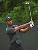 Tiger Woods prepares to tee off from the 2nd Hole during a practice round prior to the U.S. Open Championship at Shinnecock Hills Golf Club in Southampton on Sunday, June 10, 2018.