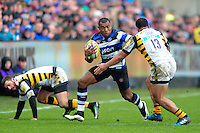 Semesa Rokoduguni of Bath Rugby in possession. Aviva Premiership match, between Bath Rugby and Wasps on March 4, 2017 at the Recreation Ground in Bath, England. Photo by: Patrick Khachfe / Onside Images