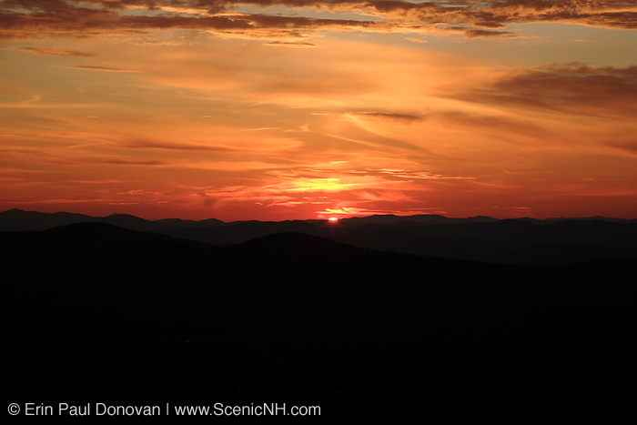 Franconia Notch State Park..Sunset from Bald Mountain. Located in White Mountains, New Hampshire USA