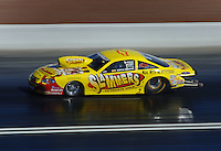Apr 7, 2006; Las Vegas, NV, USA; NHRA Pro Stock racer Erica Enders races her Slammers Ultimate Milk Chevrolet Cobalt during qualifying for the Summitracing.com Nationals at Las Vegas Motor Speedway in Las Vegas, NV. Mandatory Credit: Mark J. Rebilas