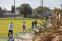 Golfers at the Driving Range at Meadowlark Golf Club