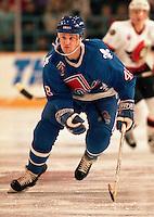 Scott Young Quebec Nordiques 1993. Photo F. Scott Grant