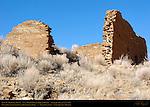 Type IV Masonry Walls, Una Vida Chacoan Great House, Anasazi Hisatsinom Ancestral Pueblo Site, Chaco Culture National Historical Park, Chaco Canyon, Nageezi, New Mexico
