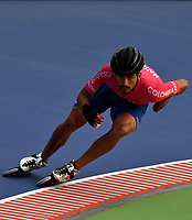 HEERDE - NETHERLANDS: 29-07-2018: Pedro Causil, patinador de la Selección Colombia, durante entreno en el patinodromo Skeelereclub Oost Velluwe en la ciudad de Heerde en Holanda. /  Pedro Causil, skater of the Colombia Team, during a training at the skating rink Skeelereclub Oost Velluwe in the city of Heerde in Netherlans. / Photo: VizzorImage / Luis Ramirez / Staff.