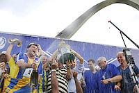 RIO DE JANEIRO - RJ - CARNAVAL 2012 - Apuração dos desfiles do Carnaval 2012 no Rio, realizada no Sambódromo da Marquês de Sapucaí, nesta quarta-feira. A agremiação ganhou o título do torneio. FOTO: RONALDO BRANDÃO/BRAZIL PHOTO PRESS