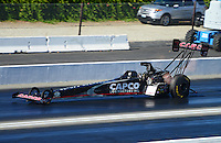 Nov. 10, 2012; Pomona, CA, USA: NHRA top fuel dragster driver Steve Torrence during qualifying for the Auto Club Finals at at Auto Club Raceway at Pomona. Mandatory Credit: Mark J. Rebilas-