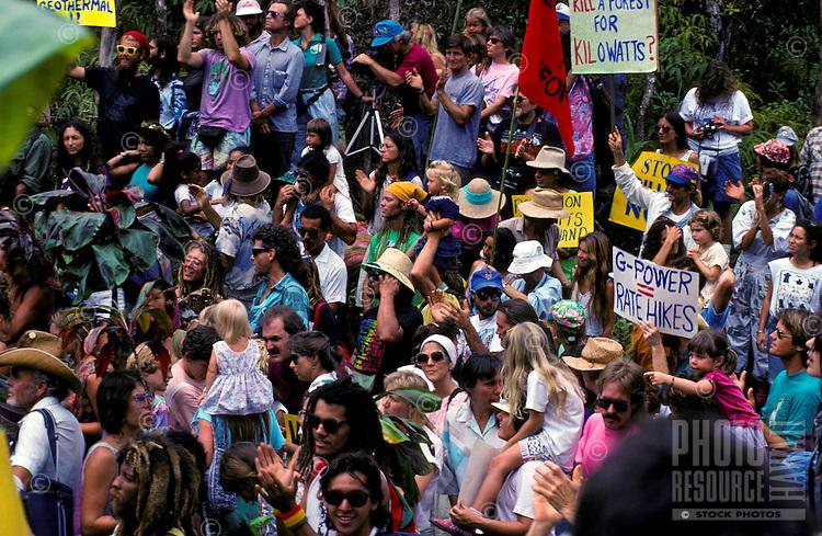 Anti-geo protest; 141 arrests; Wao kele o puna rainforest, Puna, Hawaii