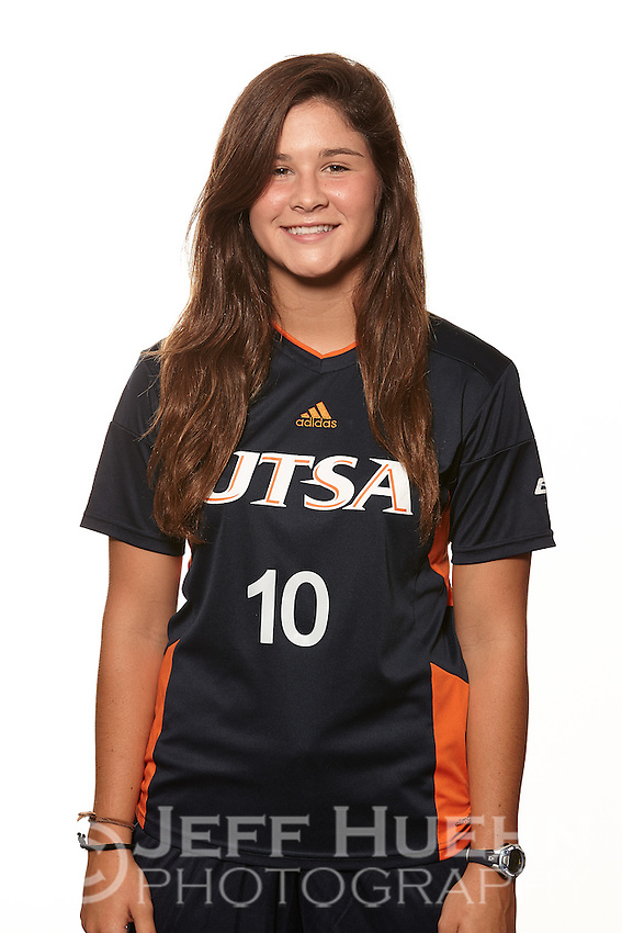 SAN ANTONIO, TX - AUGUST 3, 2016: The University of Texas at San Antonio Roadrunner Women's Soccer Team and Individual photos at the Park West Athletics Complex. (Photo by Jeff Huehn)