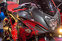 SÃO PAULO,SP, 07.10.2015 - DUAS-RODAS - Vista da 13ª Edição do Salão Duas Rodas, no Pavilhão de Exposições do Anhembi, região norte da cidade de São Paulo, nesta quarta-feira, 07. O evento reúne mais de 400 expositores e apresenta pelo menos 30 novas motocicletas. (Foto: Renato Mendes/Brazil Photo Press)
