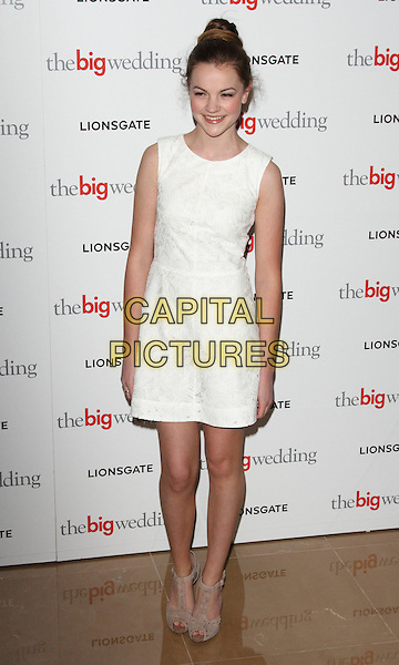 Izzy Meikle-Small.Special screening of 'The Big Wedding' at Mayfair Hotel, London, UK, May 23rd 2013..full length white dress .CAP/ROS.©Steve Ross/Capital Pictures