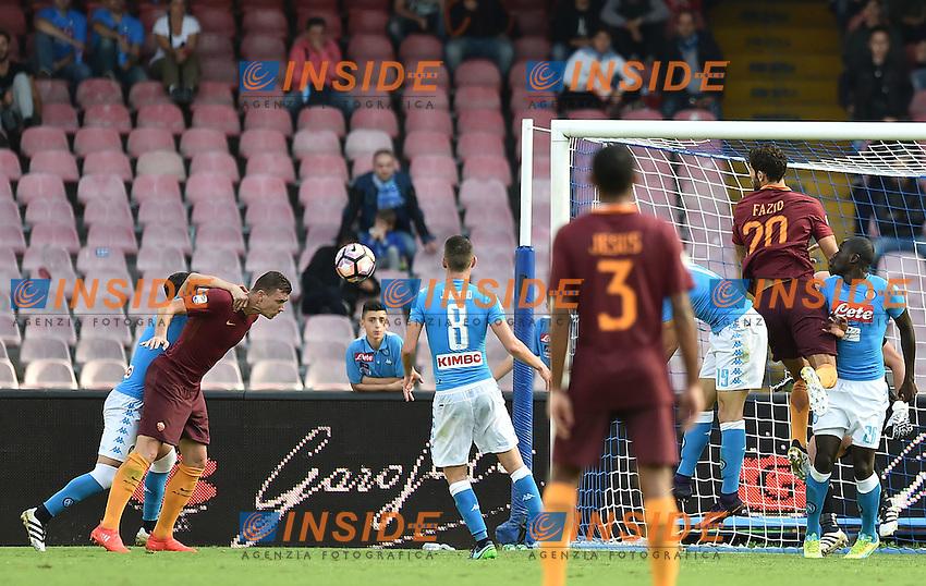 Gol Edin Dzeko Roma 0-2 Goal celebration <br /> Napoli 15-10-2016  Stadio San Paolo <br /> Football Calcio Campionato Serie A Napoli - AS Roma <br /> Foto Andrea Staccioli / Insidefoto