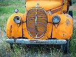 Orange 1939 Ford truck, Challis, Idaho