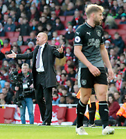 Burnley manager Sean Dyche looks a frustrated man on the touchline<br /> <br /> Photographer David Shipman/CameraSport<br /> <br /> The Premier League - Arsenal v Burnley - Saturday 22nd December 2018 - The Emirates - London<br /> <br /> World Copyright © 2018 CameraSport. All rights reserved. 43 Linden Ave. Countesthorpe. Leicester. England. LE8 5PG - Tel: +44 (0) 116 277 4147 - admin@camerasport.com - www.camerasport.com