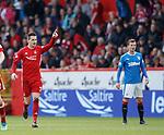 08.05.2018 Aberdeen v Rangers:  Kenny McLean celebrates