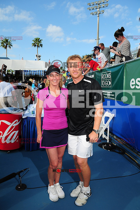 DELRAY BEACH, FL - NOVEMBER 13:Chris Evert and  Kevin McKidd attends the Chris Evert/Raymond James Pro-Celebrity Tennis Classic at Delray Beach Tennis Center on November 13, 2011 in Delray Beach, Florida. (photo by: MPI10/MediaPunch Inc.)