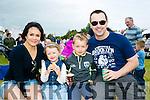 Enjoying the Abbeydorney Vintage rally on Sunday were l-r  Tanya Navarete, Matilda Bolton, Jack Bolton and Peter Bolton from Abbeydorney.