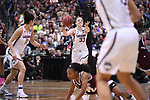 DALLAS, TX - MARCH 31: Katie Lou Samuelson #33 of the Connecticut Huskies passes the ball during the 2017 Women's Final Four at American Airlines Center on March 31, 2017 in Dallas, Texas. (Photo by Justin Tafoya/NCAA Photos via Getty Images)