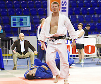 27 MAR 2011 - SHEFFIELD, GBR - Michael Horley celebrates beating Andrew Burns to win the men's under 90kg category at the English Senior Open Judo Championships (PHOTO (C) NIGEL FARROW)