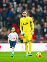 Tottenham's Hugo Lloris before  the Premier League match between Tottenham Hotspur and West Bromwich Albion at Wembley Stadium, London, England on 25 November 2017. Photo by Andrew Aleksiejczuk / PRiME Media Images.