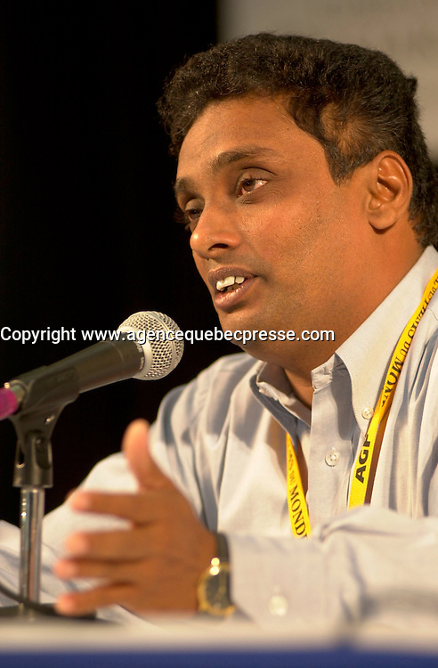 September4,  2003, Montreal, Quebec, Canada<br /> <br /> Prasanna Vithanage, director IRA MADiYAMA (August son) presented in the official comptetion of the 2003 World Film Festival<br /> <br /> The Festival runs from August 27th to september 7th, 2003<br /> <br /> <br /> Mandatory Credit: Photo by Pierre Roussel- Images Distribution. (&copy;) Copyright 2003 by Pierre Roussel <br /> <br /> All Photos are on www.photoreflect.com, filed by date and events. For private and media sales