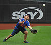 Chris Diot, son of the Amityville varsity baseball head coach of the same name (not in picture), tracks a ball in the air during a visit to Citi Field in Flushing, NY on Saturday, June 23, 2018.