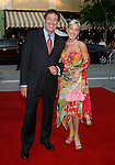 "Actor Barry Williams and Elizabeth Kennedy arrive at the Premiere of Columbia Pictures' ""Step Brothers"" at the Mann Village Theater on July 15, 2008 in Los Angeles, California."